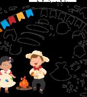 Molde de Festa Junina 8 para Eva, Feltro e Artesanato
