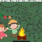 Molde de Festa Junina 9 para Feltro, Eva e Artesanato