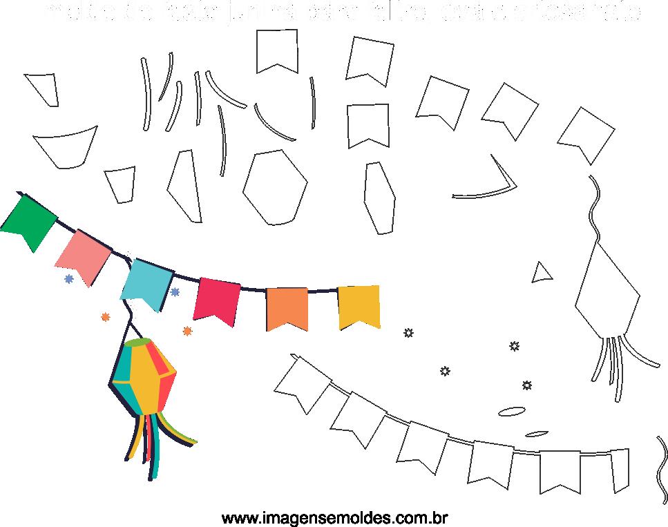 Molde de Festa Junina14 para Eva, feltro e Artesanato, Juni Party Schimmel, molde de fiesta de junio, june party mold