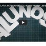 PAP PAPELARIA PERSONALIZADA – Como montar Letra 3D + Molde Grátis