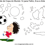 Molde de Copa do Mundo 15 para Feltro, Eva e Artesanato