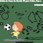Molde de Copa do Mundo 16 para Feltro, Eva e Artesanato