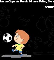 Molde de Copa do Mundo 16 para Eva, Feltro e Artesanato