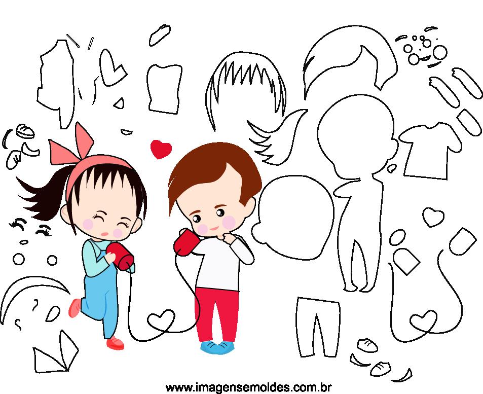Molde de dia dos namorados 21 para Eva, Feltro e Artesanato, Valentinstag Vorlage, plantilla de san valentín, valentine's day template
