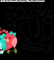 Molde de Dia dos Namorados 22 para Feltro, Eva e Artesanato