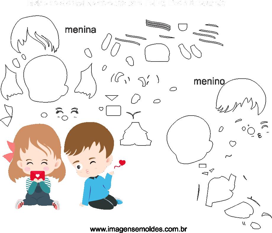 Molde de Dia dos namorados 23 para Eva, Feltro e Artesanato,  Valentinstag Vorlage, plantilla de san valentín, valentine's day template