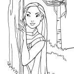 Desenhos Infantis para colorir Pocahontas