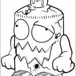 Desenhos Infantis para colorir Trash Pack