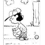 Desenhos Infantis para colorir do Snoopy