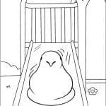 Desenhos Infantis para colorir Marshmallow Peeps