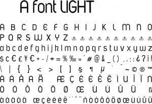 Fonte A font LIGHT para Baixar Grátis