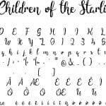 Fonte Children of the Starlight para Baixar Grátis