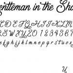 Fonte Gentleman in the Shadow para Baixar Grátis