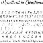 Fonte Heartbeat in Christmas para Baixar Grátis