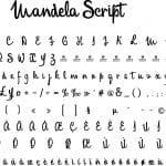 Fonte Mandela Script para Baixar Grátis