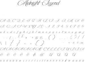 Fonte Midnight Legend para Baixar Grátis