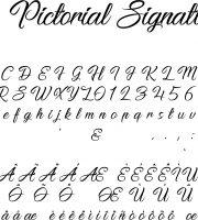 Fonte Pictorial Signature para Baixar Grátis