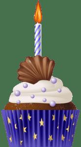 Imagem de Bolos - Cupcake de Aniversário 4 PNG