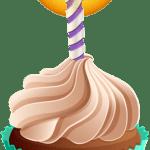 Imagem de Bolos – Cupcake de Aniversário 6 PNG