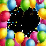 Imagem de Festa – Banner Bexigas de Aniversário PNG
