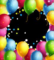 Imagem de Festa - Banner Bexigas de Aniversário PNG