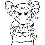 Desenhos Infantis para colorir do Barney e seus amigos
