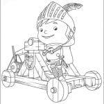 Desenhos Infantis para colorir do Mike o Cavaleiro