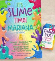 Convite Super festa Slime