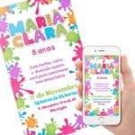 Convite Festa Slime 2