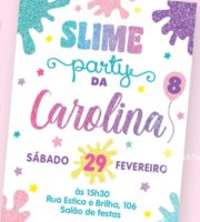 Convite Festa Slime