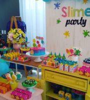 Decoração Colorida Festa Slime