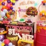 Decoração Tema Festa Slime