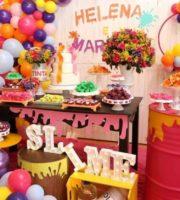 Festa Slime - Decoração