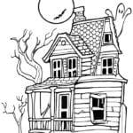 Desenhos para Colorir de Casas