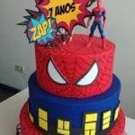 Bolo de Aniversário Homem Aranha 8