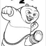Desenhos de Kung Fu Panda para colorir
