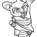 Desenhos para Colorir e Imprimir – Kung Fu Panda