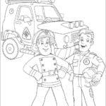 Figuras para Colorir e Imprimir O Bombeiro Sam
