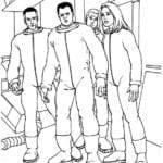 Desenhos para Colorir e Imprimir Quarteto Fantástico