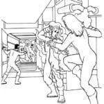 Figuras para Colorir Quarteto Fantástico