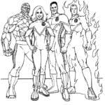 Desenhos para Pintar Quarteto Fantástico