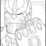 Desenhos para Colorir e Imprimir Vingadores Ultimato