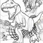 Imagens de Jurassic Park para Colorir e Imprimir