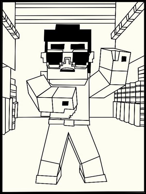 Desenhos Para Colorir E Imprimir Do Minecraftminecraft Desenhos