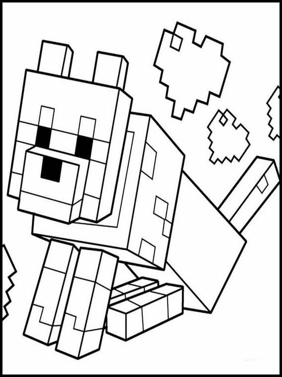 Minecraft Desenhos Para Imprimir E Colorir