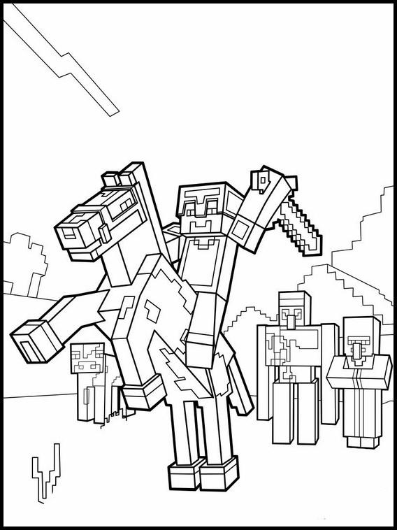 Desenhos Para Colorir E Imprimir Do Minecraft Minecraft