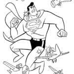 Desenhos para Colorir e Imprimir do Superman