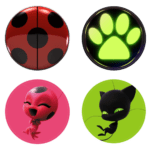 Miraculous As Aventuras de Ladybug – Bottons PNG