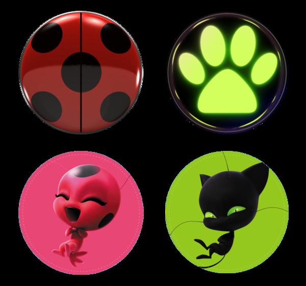 Miraculous As Aventuras de Ladybug - Bottons PNG, las aventuras de mariquita, die Abenteuer des Marienkäfers, the adventures of ladybug