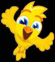 Turma Mundo Bita Animais Pássaro Amarelo